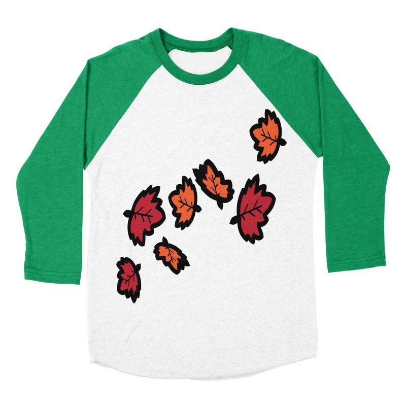 Autumn maple leaves Men's Baseball Triblend Longsleeve T-Shirt by cindyshim's Artist Shop