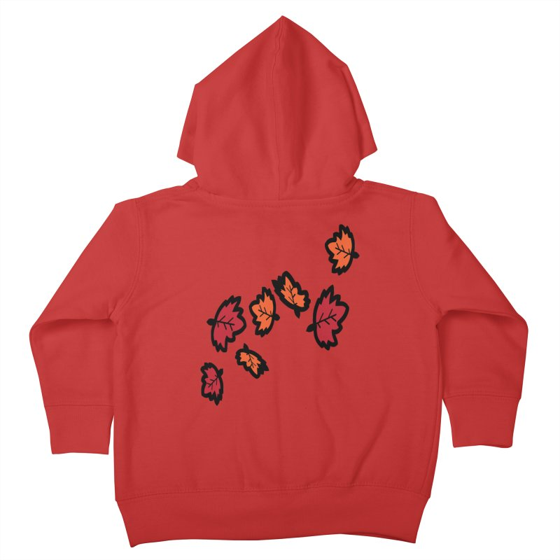 Autumn maple leaves Kids Toddler Zip-Up Hoody by cindyshim's Artist Shop