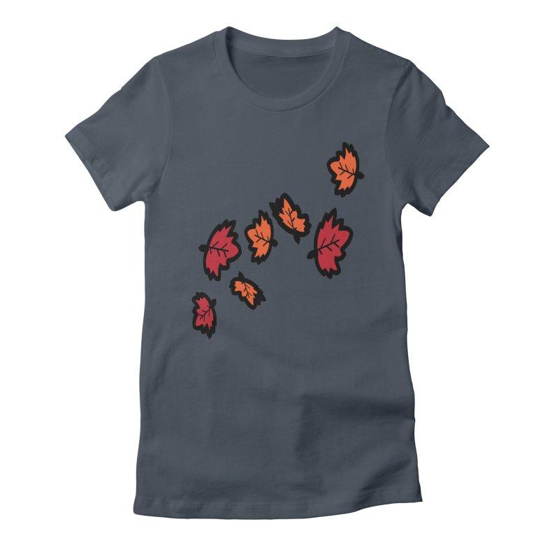 Autumn maple leaves Women's T-Shirt by cindyshim's Artist Shop