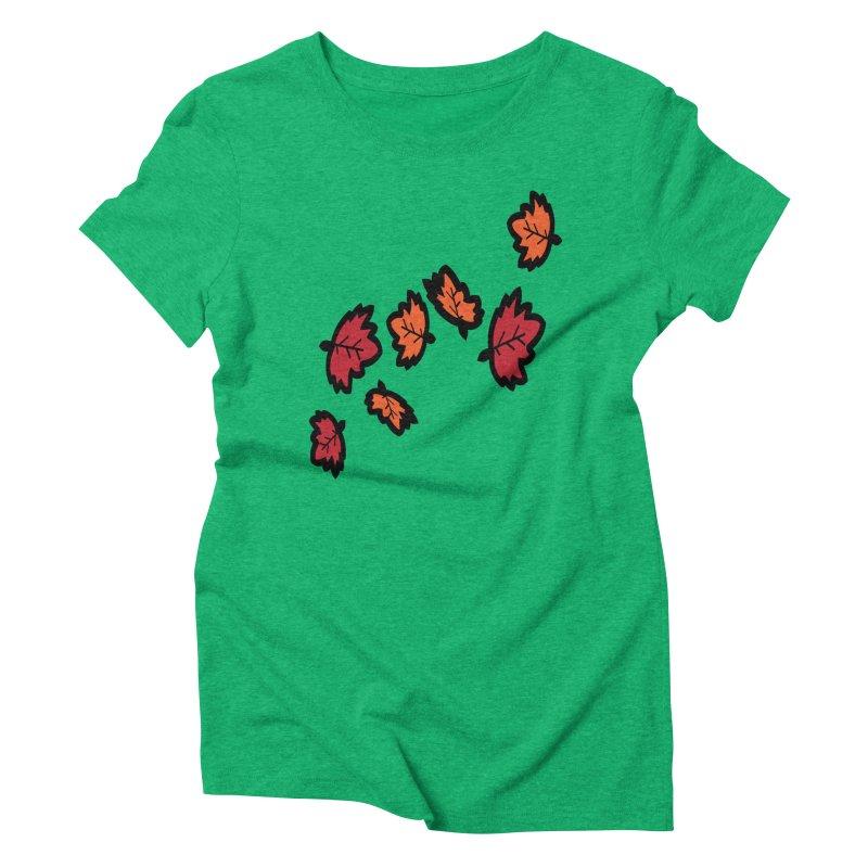 Autumn maple leaves Women's Triblend T-Shirt by cindyshim's Artist Shop