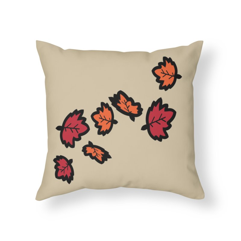 Autumn maple leaves Home Throw Pillow by cindyshim's Artist Shop