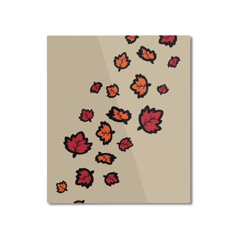 Autumn maple leaves Home Mounted Aluminum Print by cindyshim's Artist Shop