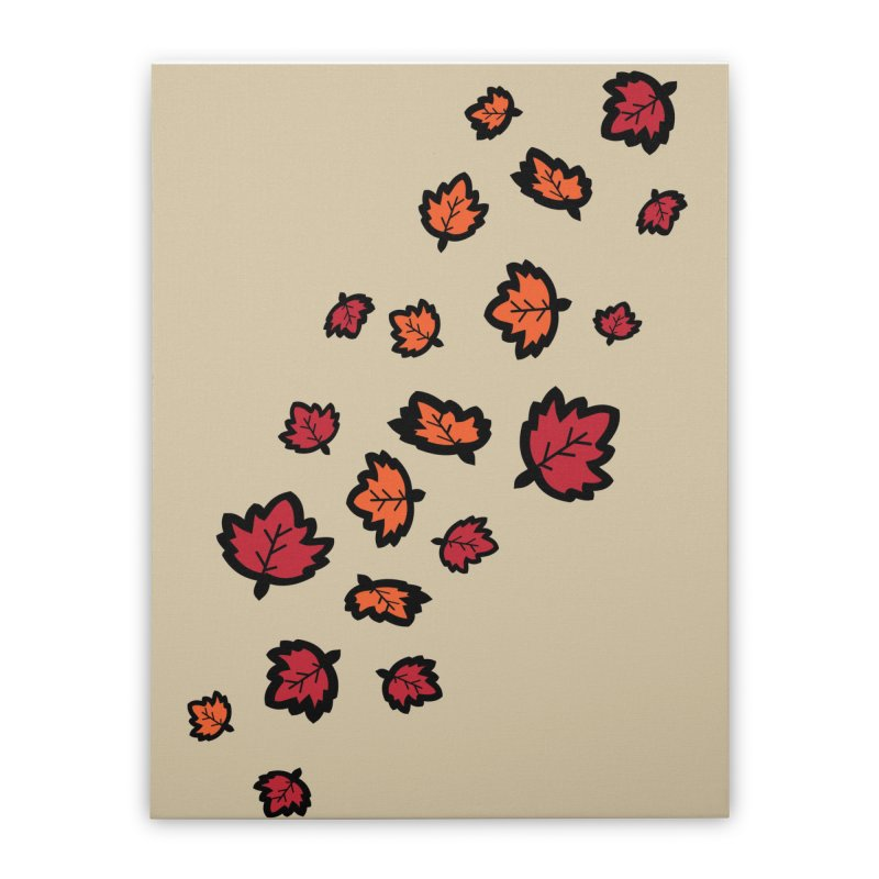 Autumn maple leaves Home Stretched Canvas by cindyshim's Artist Shop