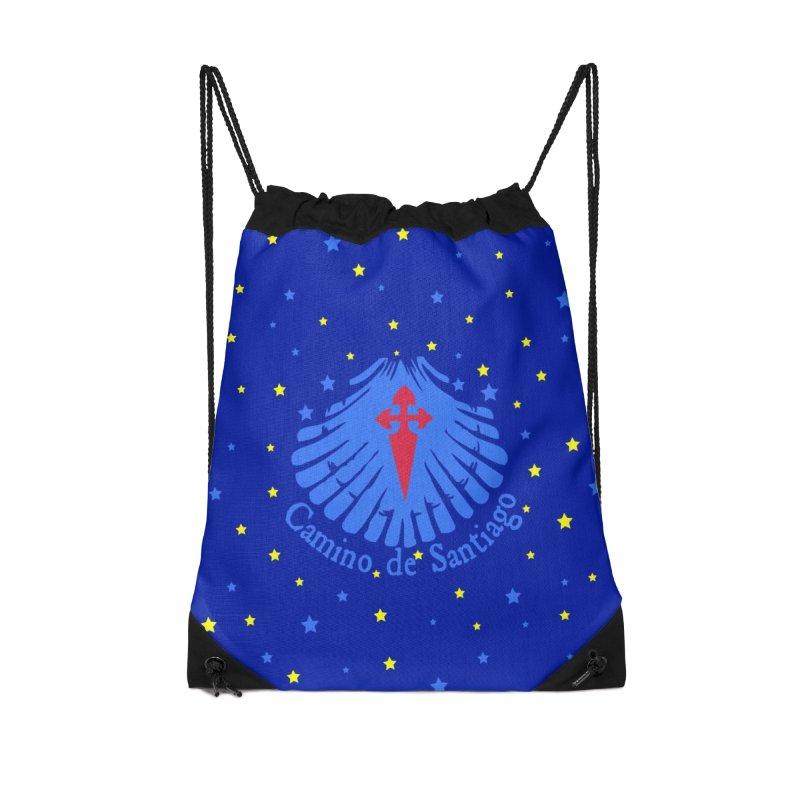 Camino de Santiago Accessories Drawstring Bag Bag by cindyshim's Artist Shop