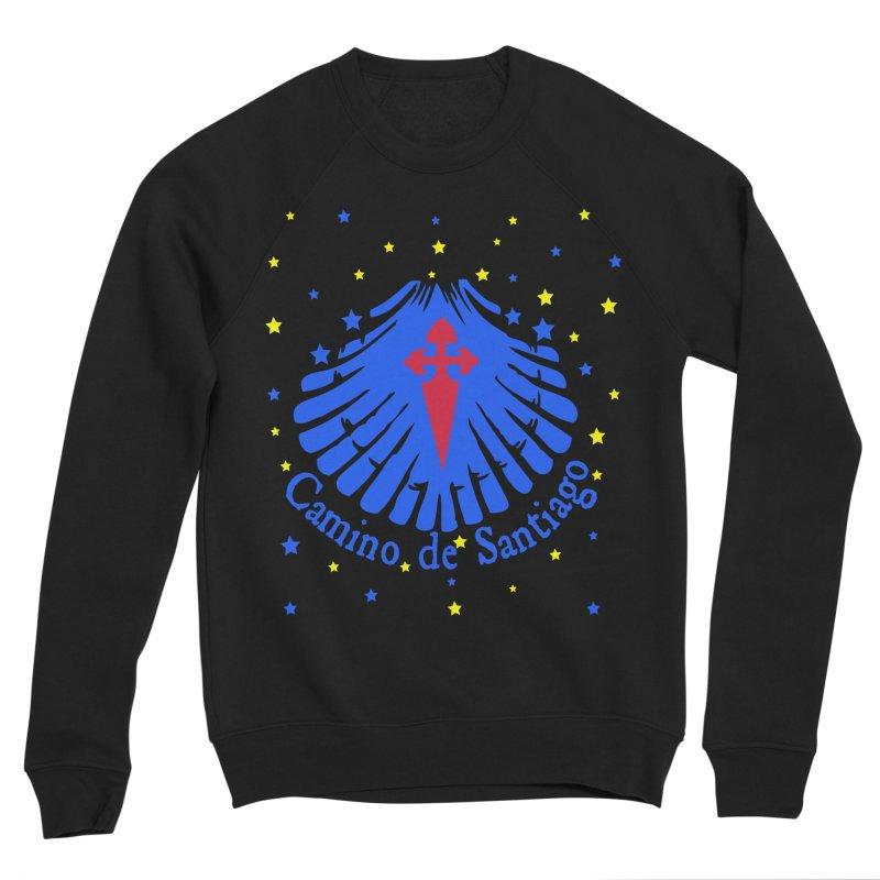 Camino de Santiago Men's Sponge Fleece Sweatshirt by cindyshim's Artist Shop