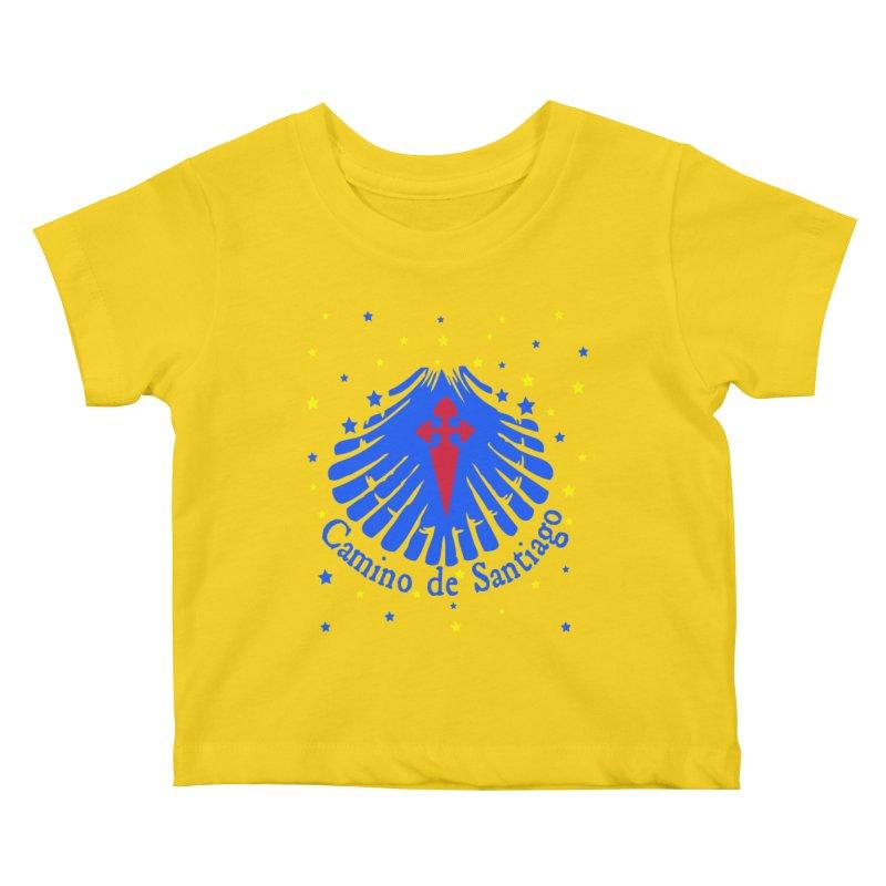 Camino de Santiago Kids Baby T-Shirt by cindyshim's Artist Shop