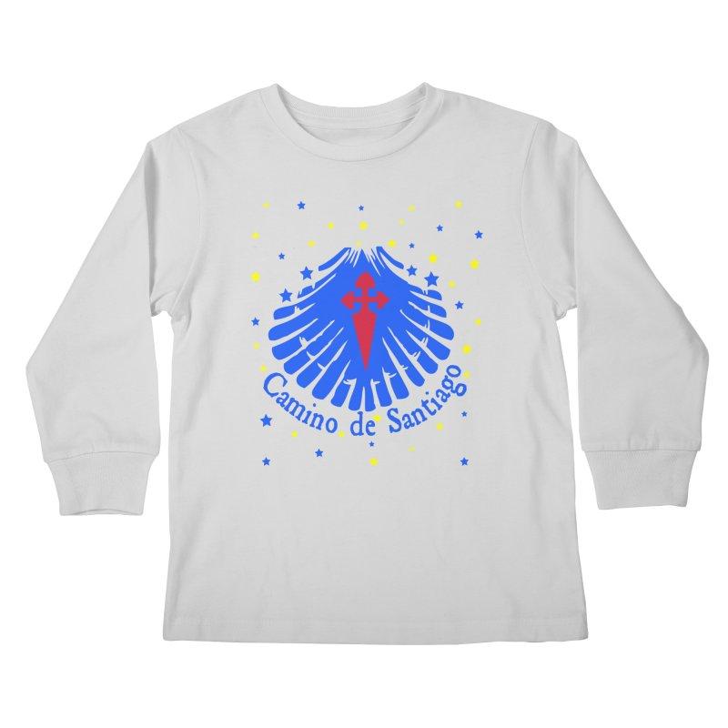 Camino de Santiago Kids Longsleeve T-Shirt by cindyshim's Artist Shop