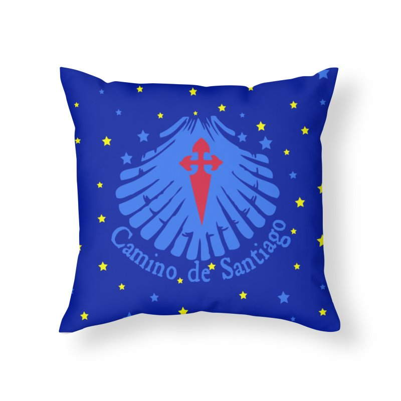 Camino de Santiago Home Throw Pillow by cindyshim's Artist Shop