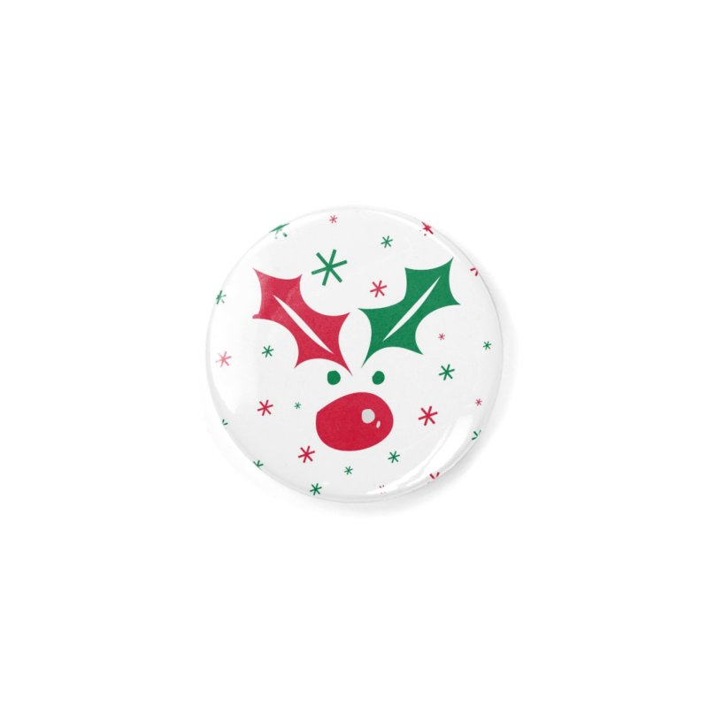 Holy leaves Reindeer Accessories Button by cindyshim's Artist Shop