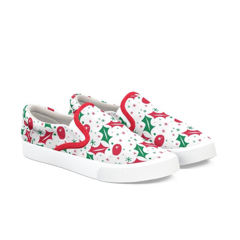 Holy leaves Reindeer Women's Slip-On Shoes by cindyshim's Artist Shop