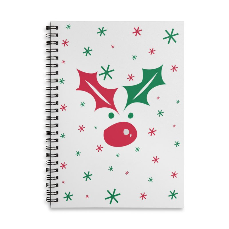 Holy leaves Reindeer Accessories Lined Spiral Notebook by cindyshim's Artist Shop