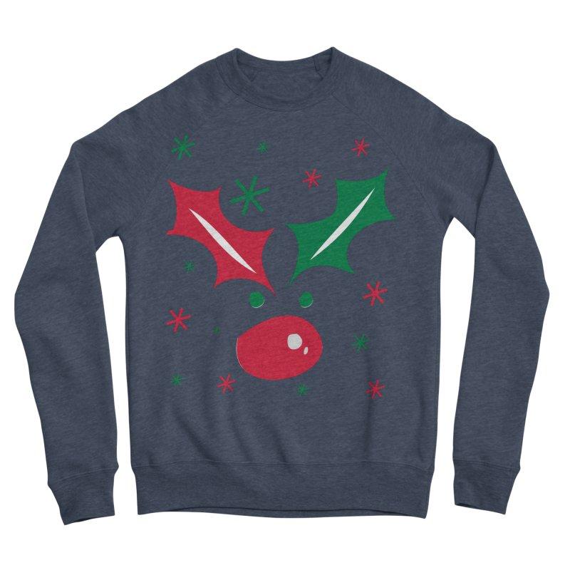 Holy leaves Reindeer Men's Sponge Fleece Sweatshirt by cindyshim's Artist Shop