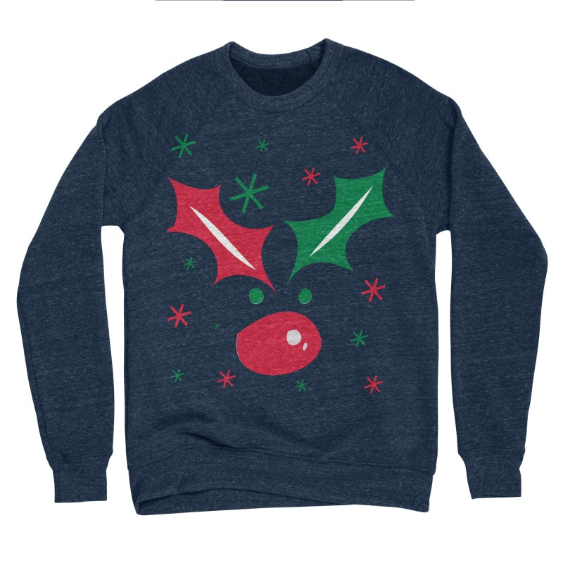 Holy leaves Reindeer Women's Sponge Fleece Sweatshirt by cindyshim's Artist Shop
