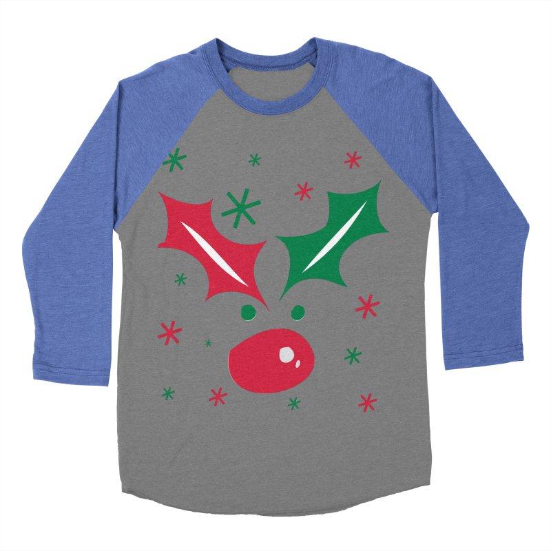 Holy leaves Reindeer Women's Baseball Triblend Longsleeve T-Shirt by cindyshim's Artist Shop