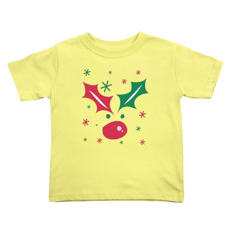 Holy leaves Reindeer Kids Toddler T-Shirt by cindyshim's Artist Shop