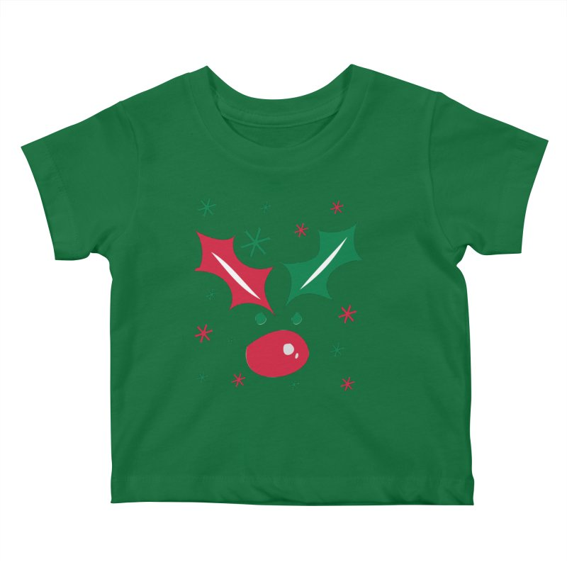 Holy leaves Reindeer Kids Baby T-Shirt by cindyshim's Artist Shop