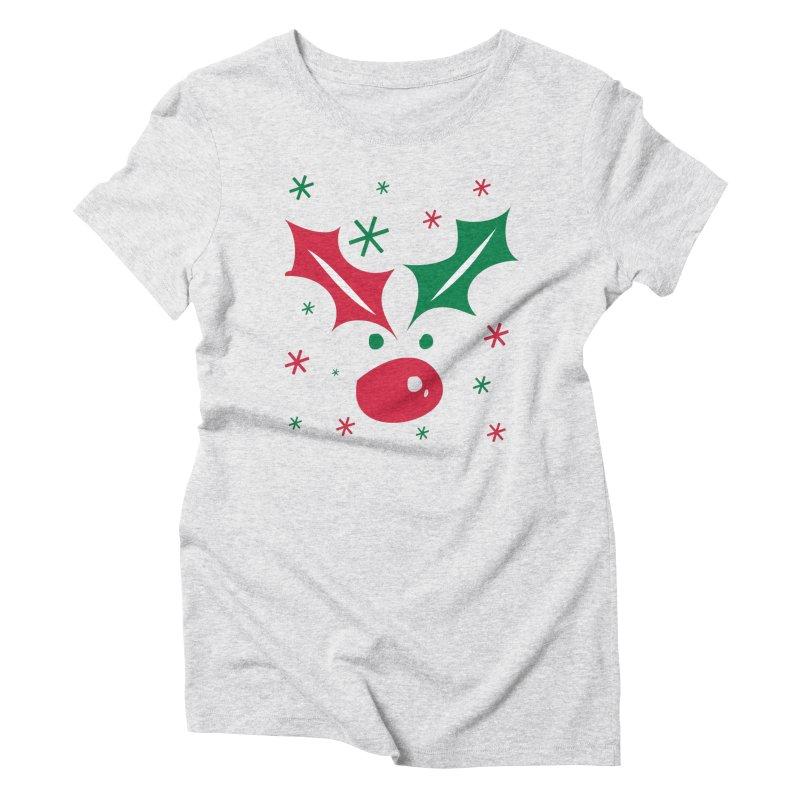 Holy leaves Reindeer Women's Triblend T-Shirt by cindyshim's Artist Shop