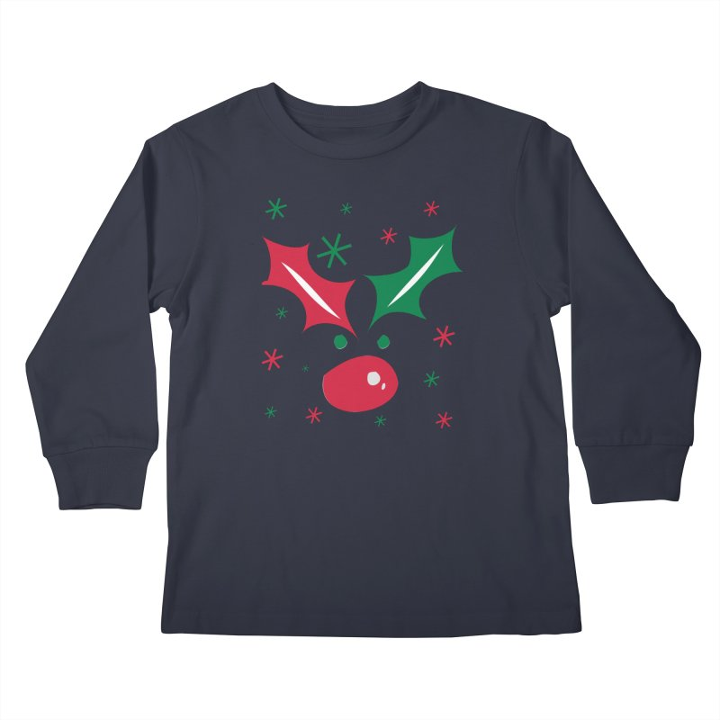 Holy leaves Reindeer Kids Longsleeve T-Shirt by cindyshim's Artist Shop