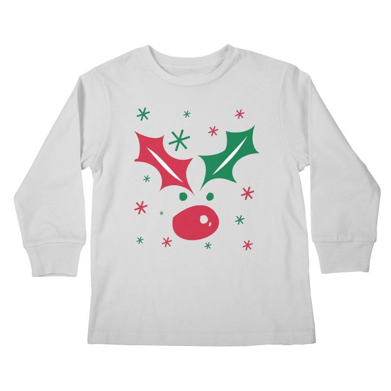 Holy leaves Reindeer Kids Longsleeve T-Shirt by cindyshim's Artist Shop
