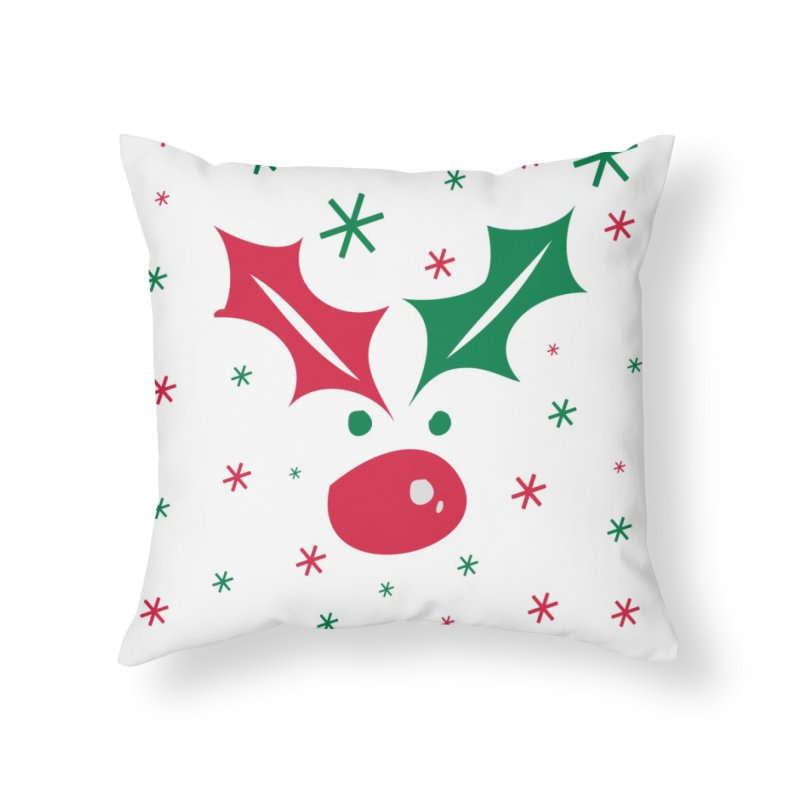 Holy leaves Reindeer Home Throw Pillow by cindyshim's Artist Shop