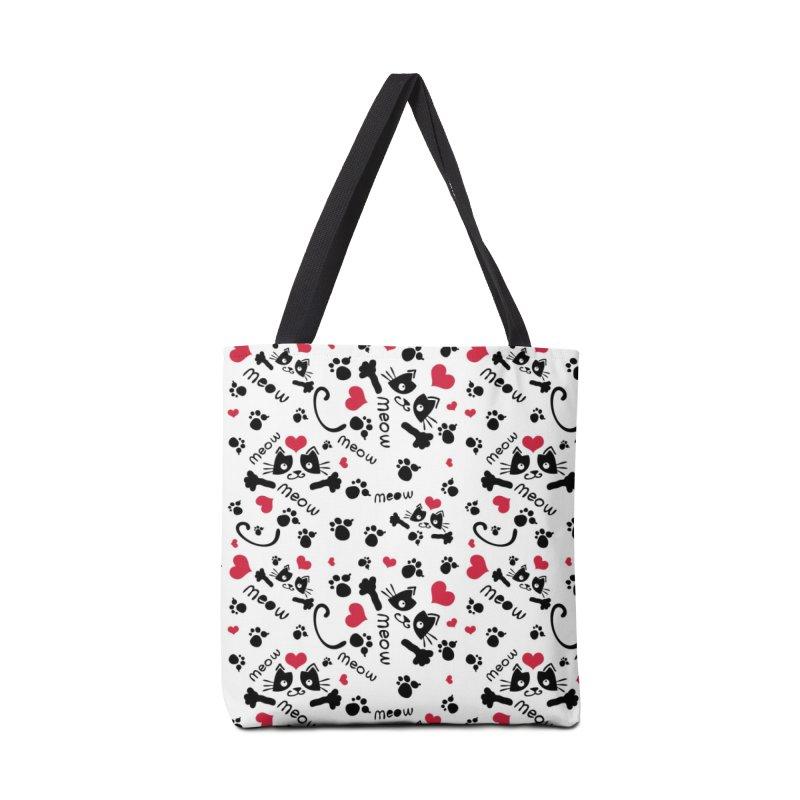 Meow Meow cat Accessories Tote Bag Bag by cindyshim's Artist Shop