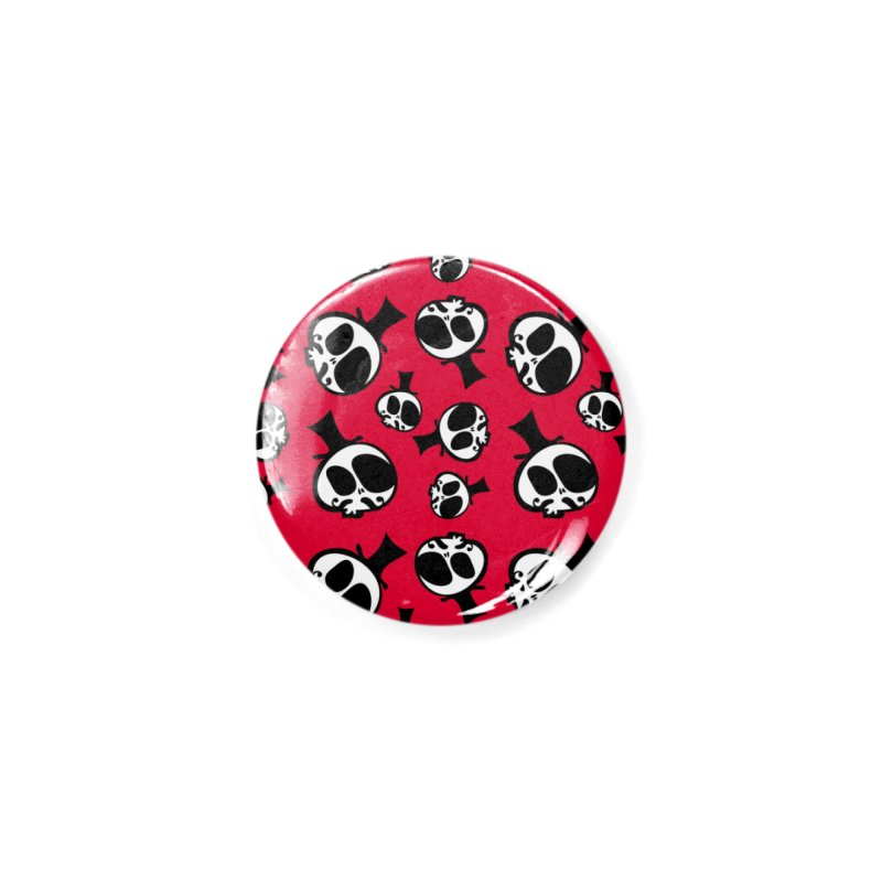Skull with mustache Accessories Button by cindyshim's Artist Shop
