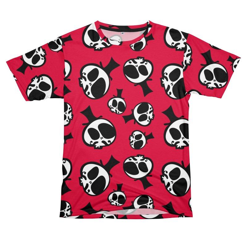 Skull with mustache Men's T-Shirt Cut & Sew by cindyshim's Artist Shop