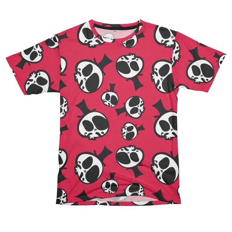 Skull with mustache Women's Unisex French Terry T-Shirt Cut & Sew by cindyshim's Artist Shop