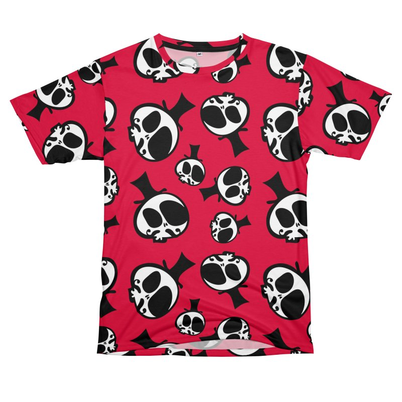 Skull with mustache Women's Unisex T-Shirt Cut & Sew by cindyshim's Artist Shop