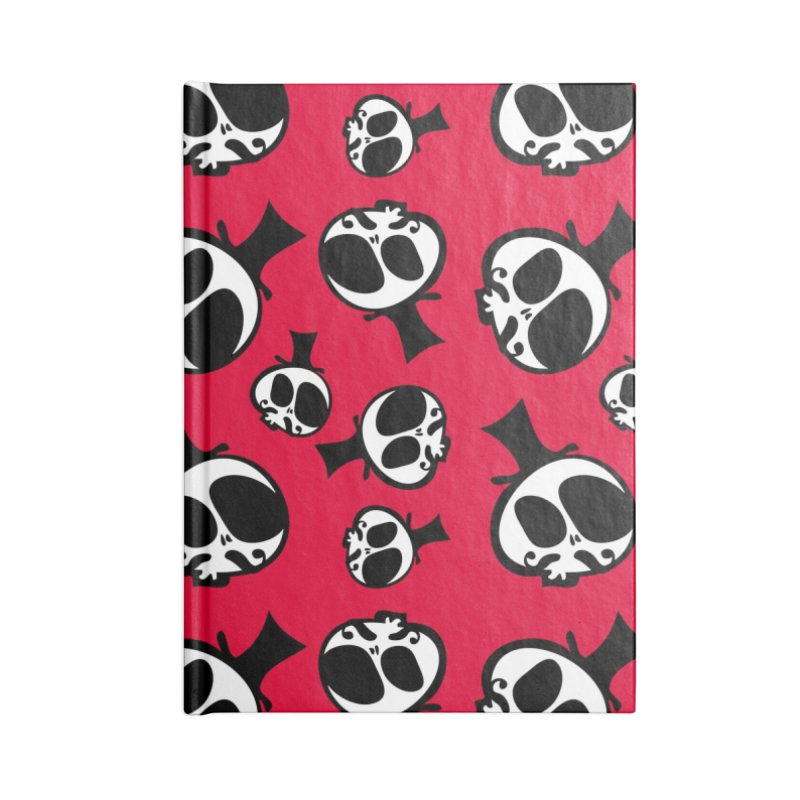 Skull with mustache Accessories Blank Journal Notebook by cindyshim's Artist Shop