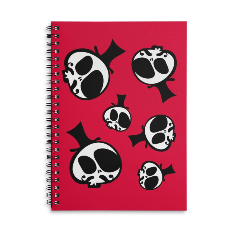 Skull with mustache Accessories Lined Spiral Notebook by cindyshim's Artist Shop