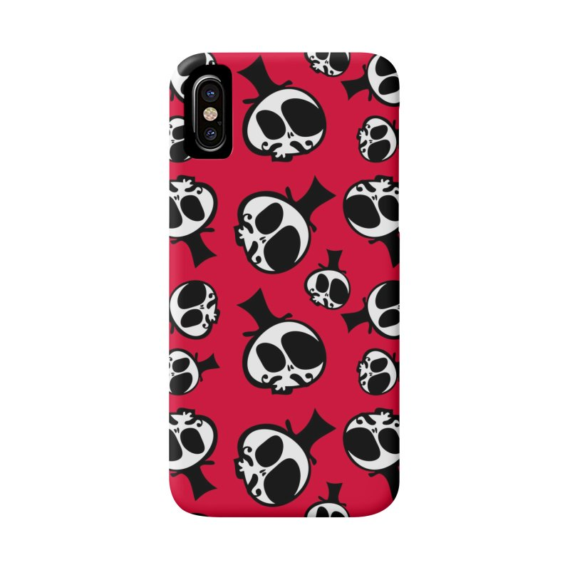 Skull with mustache Accessories Phone Case by cindyshim's Artist Shop