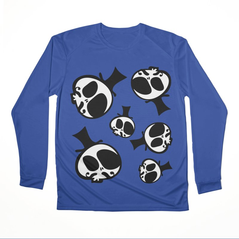 Skull with mustache Men's Performance Longsleeve T-Shirt by cindyshim's Artist Shop