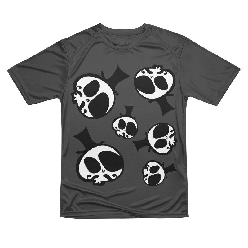 Skull with mustache Women's Performance Unisex T-Shirt by cindyshim's Artist Shop