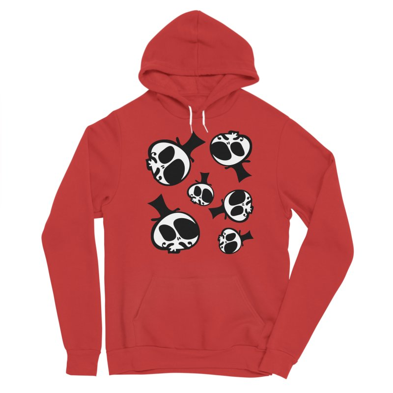 Skull with mustache Women's Pullover Hoody by cindyshim's Artist Shop