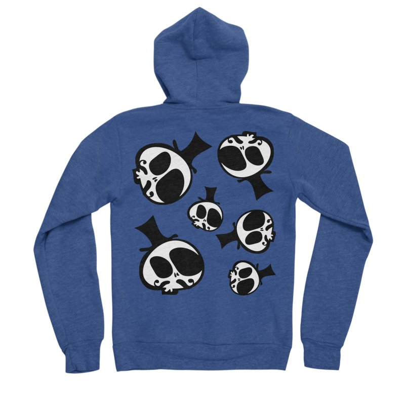 Skull with mustache Women's Sponge Fleece Zip-Up Hoody by cindyshim's Artist Shop