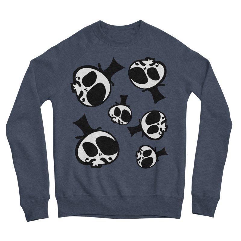 Skull with mustache Women's Sponge Fleece Sweatshirt by cindyshim's Artist Shop