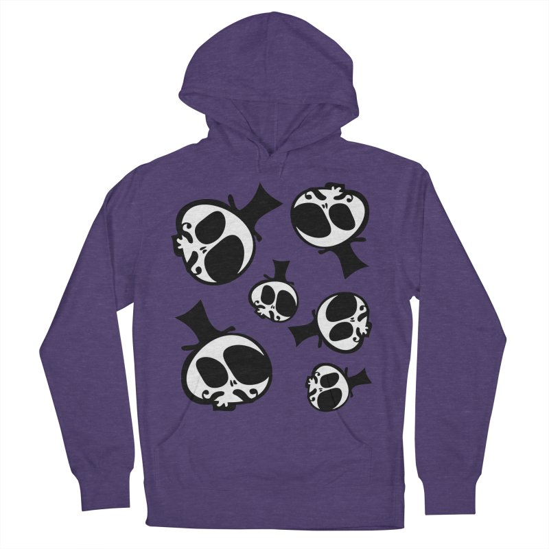 Skull with mustache Women's French Terry Pullover Hoody by cindyshim's Artist Shop