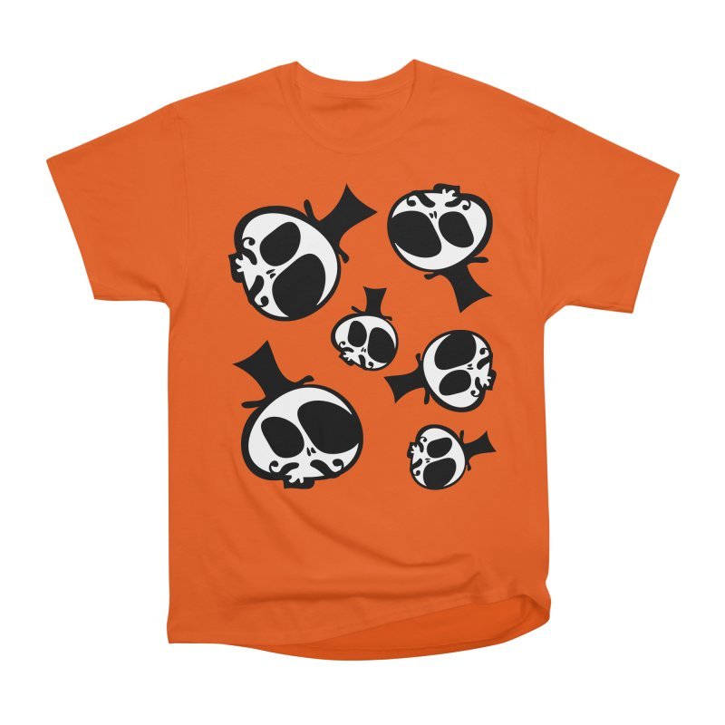 Skull with mustache Men's Heavyweight T-Shirt by cindyshim's Artist Shop