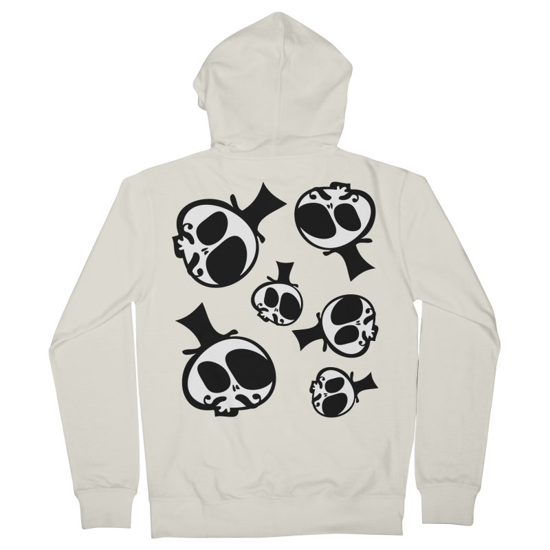 Skull with mustache Men's French Terry Zip-Up Hoody by cindyshim's Artist Shop
