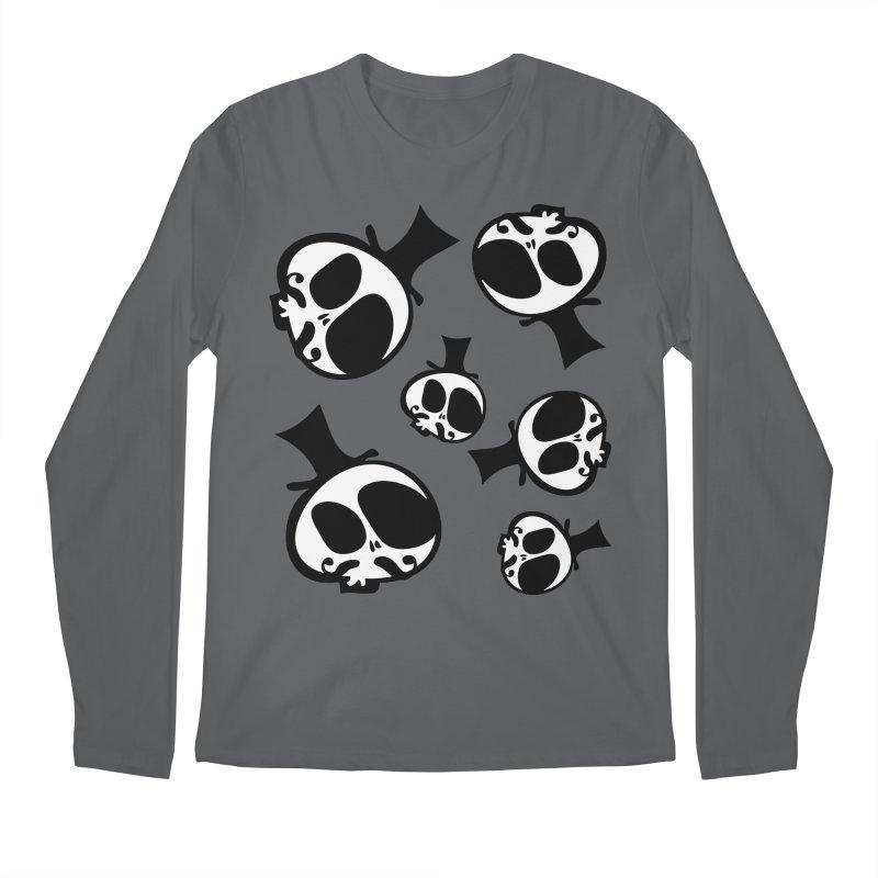 Skull with mustache Men's Longsleeve T-Shirt by cindyshim's Artist Shop