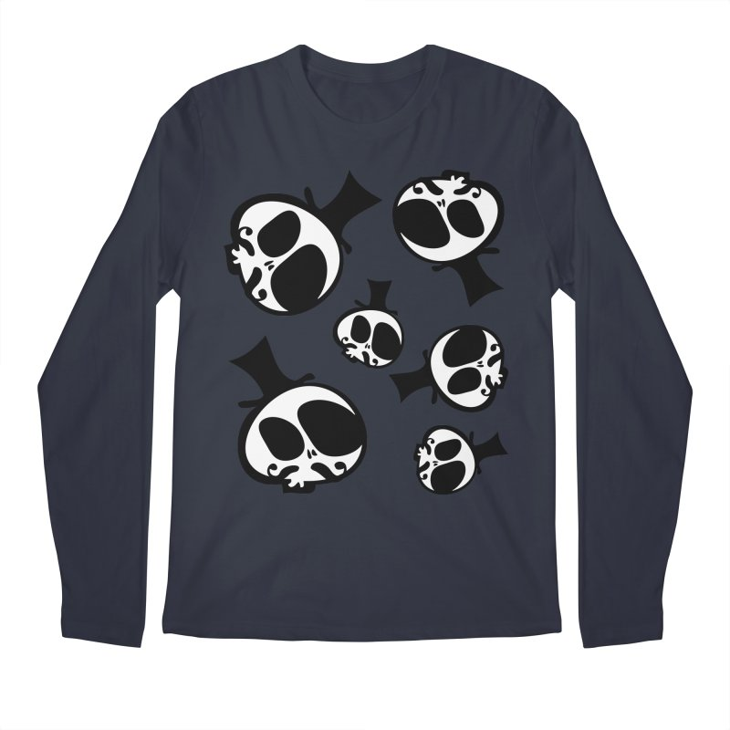 Skull with mustache Men's Regular Longsleeve T-Shirt by cindyshim's Artist Shop