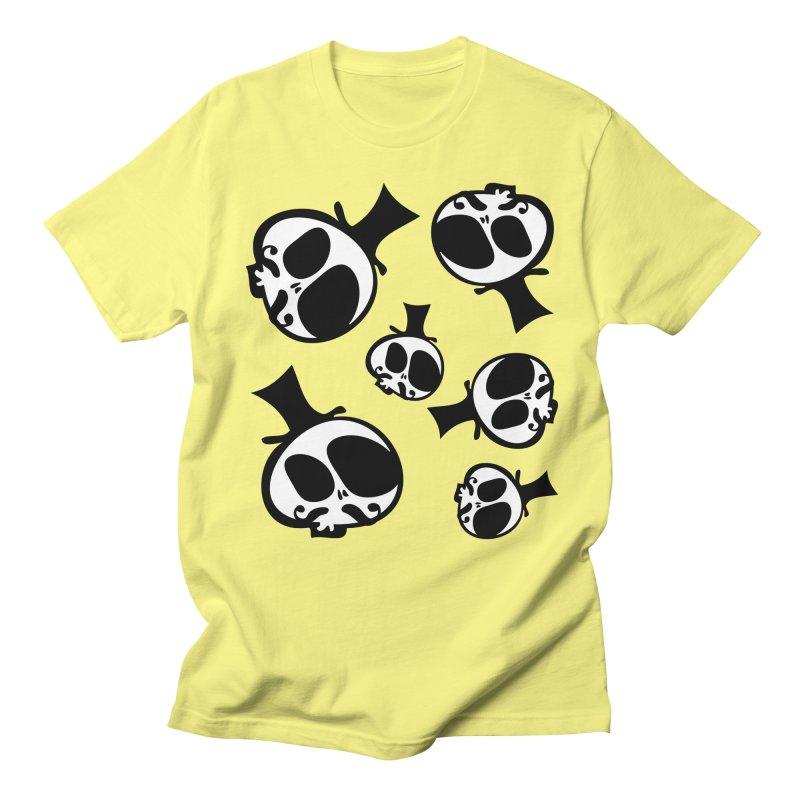 Skull with mustache Men's Regular T-Shirt by cindyshim's Artist Shop