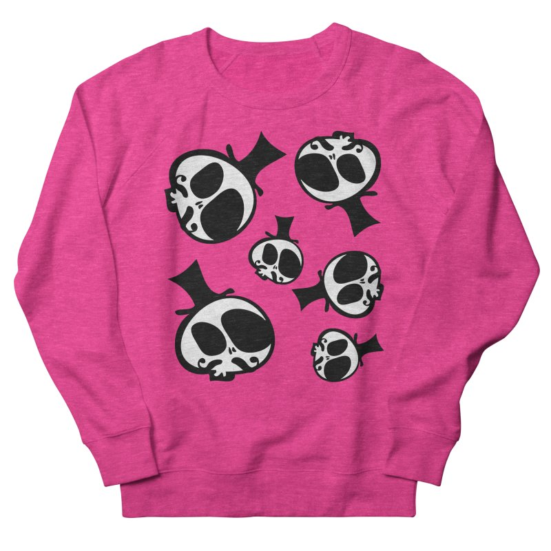Skull with mustache Men's French Terry Sweatshirt by cindyshim's Artist Shop