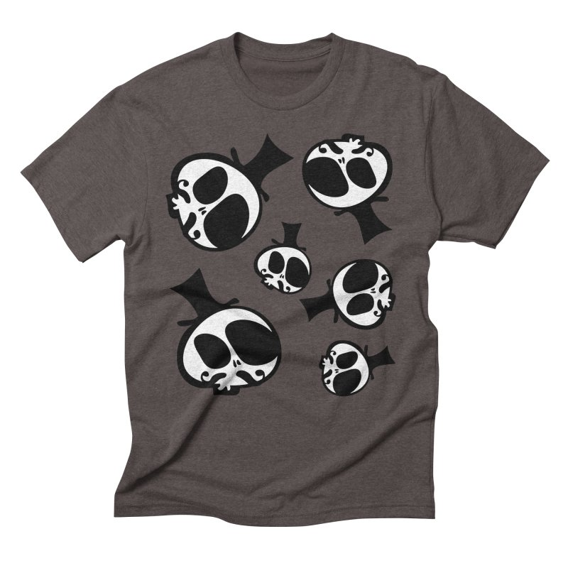 Skull with mustache Men's Triblend T-Shirt by cindyshim's Artist Shop