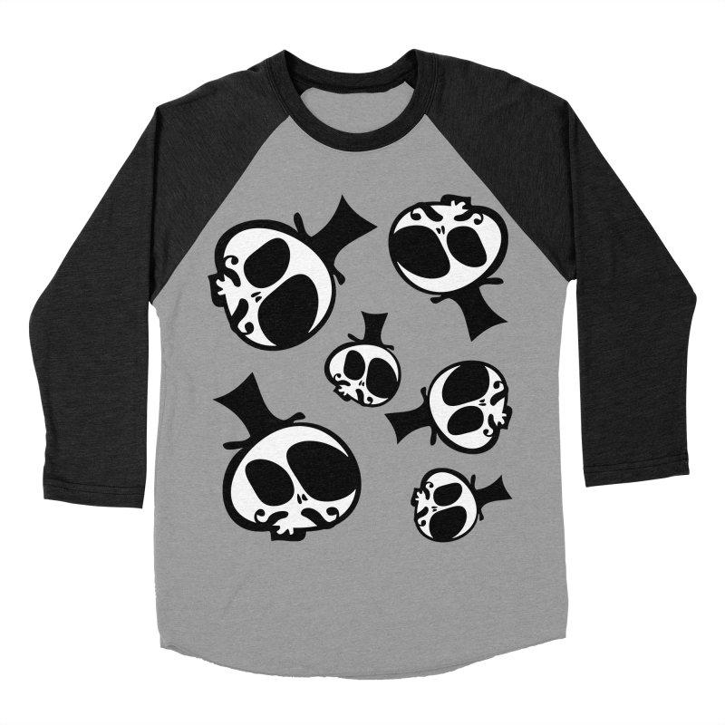 Skull with mustache Women's Baseball Triblend Longsleeve T-Shirt by cindyshim's Artist Shop