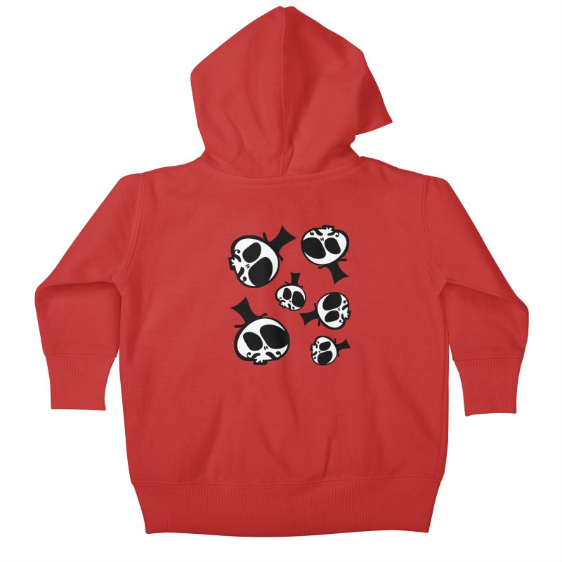 Skull with mustache Kids Baby Zip-Up Hoody by cindyshim's Artist Shop