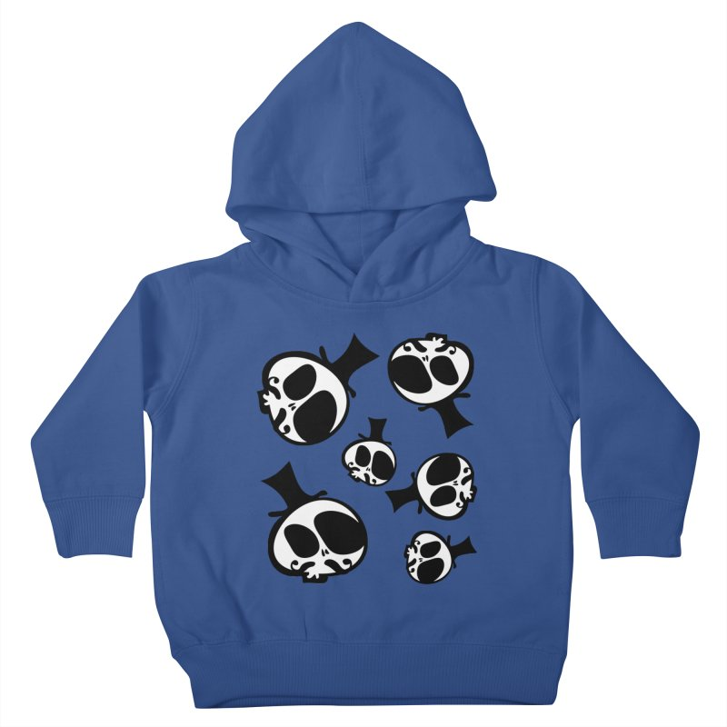Skull with mustache Kids Toddler Pullover Hoody by cindyshim's Artist Shop