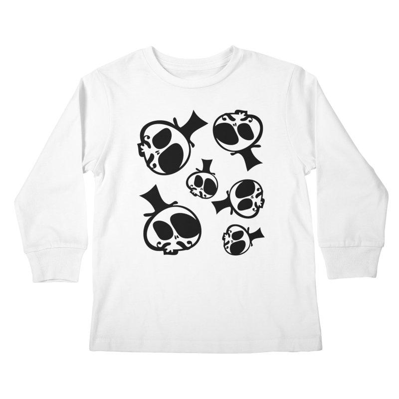 Skull with mustache Kids Longsleeve T-Shirt by cindyshim's Artist Shop