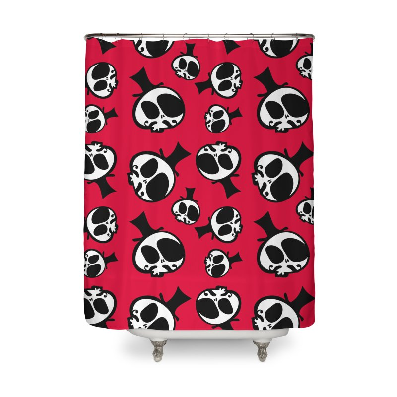 Skull with mustache Home Shower Curtain by cindyshim's Artist Shop